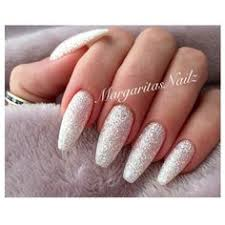 white and gold glitter long coffin nails nails pinterest
