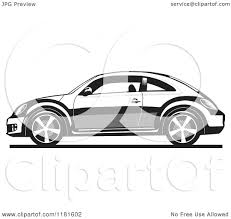 volkswagen beetle clipart clipart of a grayscale new volkswagen beetle royalty free vector