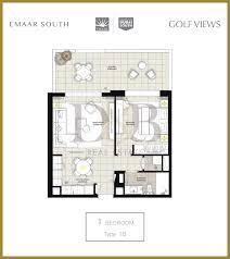 Burj Al Arab Floor Plans Golf Views Emaar South D U0026b Properties