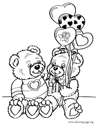 valentine u0027s coloring pages couple teddy bears