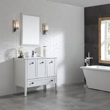 shop ove decors andora matte white integral single sink bathroom