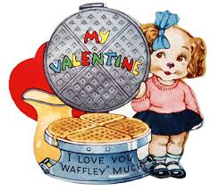 vintage valentines and kitschy vintage waffle to print vintage fangirl