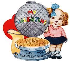 cute and kitschy vintage u0027waffle u0027 valentine to print vintage fangirl