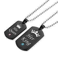 necklace metal images Gagafeel couple necklace his hers titanium stainless steel pendant jpg
