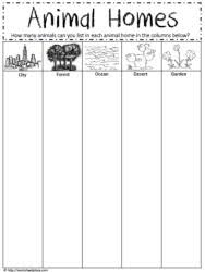 animal homes worksheets free worksheets library download and