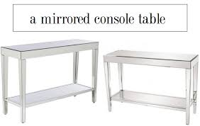 mirrored console table target target mirrored console table image collections table design ideas