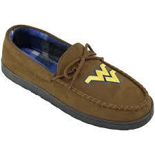 wvu men u0027s moccasin slippers the book exchange