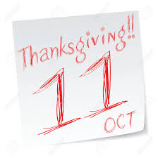 a message note of canada thanksgiving date of calendar royalty