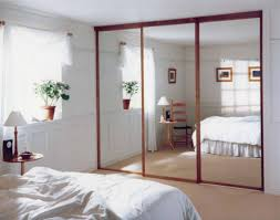 Thin Closet Doors Modern Design For Sliding Mirrored Closet Door With Thin Wooden
