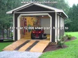 free 10 x 10 shed plans youtube