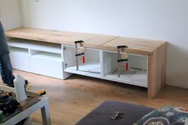 ikea hackers besta tv stand with seating option http www
