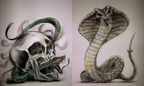 skull and snake tattoo designs by tamitw on deviantart