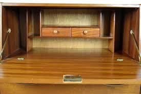 Furniture Secretary Desk by Mid Century Danish Modern Teak Secretary Desk By Jentique