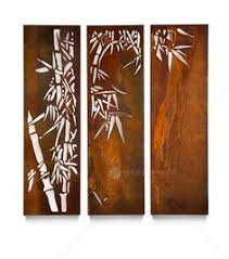 outdoor laser cut wall art bamboo from earth homewares outdoor