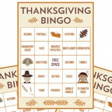 free printable thanksgiving bingo cards crafts