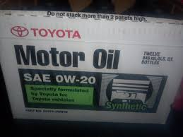 lexus engine oil price ca genuine toyota 0w 20 full synthetic motor oil case 12 qts
