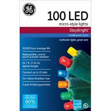 micro led christmas lights ge staybright micro style led christmas lights multi color 100