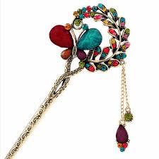 kanzashi hair pin fashion kanzashi combs and sticks colorful rhinestones