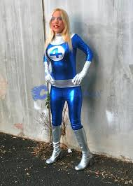 Fantastic Halloween Costumes Invisible Woman Cosplay Costume Susan Storm Richards