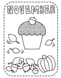 november monthly coloring pages 24207 bestofcoloring com