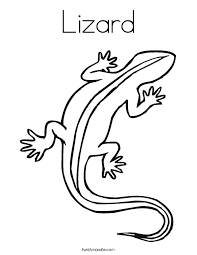 Lizard Coloring Page Twisty Noodle Reptile Coloring Pages