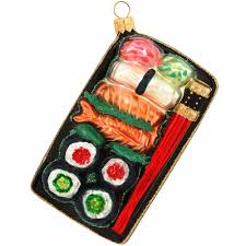 sushi plate glass ornament bronner s