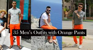 Best Color With Orange Men U0027s Orange Pants 35 Best Ways To Wear Orange Pants