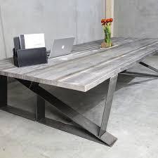 Besprechungstisch Moderner Besprechungstisch Holz Metall Rechteckig Sun Wood