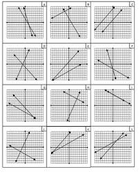 of equations graphs and solutions matching activity mrs math