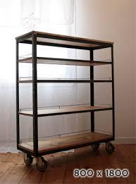 Pine Wood Bookshelf Mobilegrande Rakuten Global Market Book Iron Display Rack Shelf