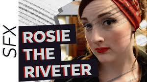 pin up halloween makeup rosie the riveter pin up halloween makeup tutorial youtube