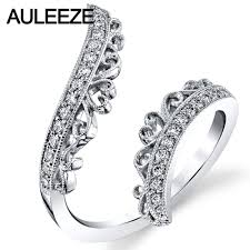 open wedding band ornate filigree open ring africa real diamond wedding