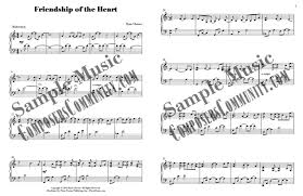 friendship of the heart by ryan chesser sheet music piano