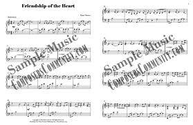 friendship of the heart by ryan chesser sheet music piano