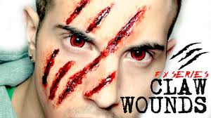 wound halloween makeup fx series claw wounds youtube