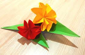 easy origami flower great ideas for christmas decor paper