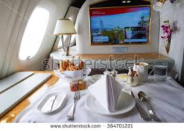 Emirates Airbus A380 Interior Business Class Business Class A380 Comfort Stock Images Royalty Free Images