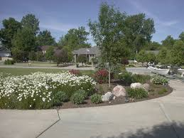 exterior beautiful line driveway landscaping ideas with paver