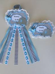 blue elephant mommy to be baby shower corsage or any name please