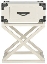 ivory accent table corner braces accent table