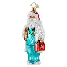 radko ornaments santa ornament paging dr claus doctor