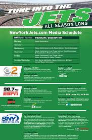 tv guide watertown ny new york jets television information and media schedule