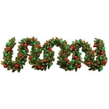 Outdoor Garland With Lights by Shop Ge 10 In W X 18 Ft L Pre Lit Indoor Outdoor Artificial