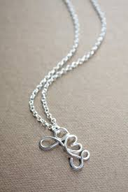 initials necklace silver two initials necklace with a heart sterling silver 925