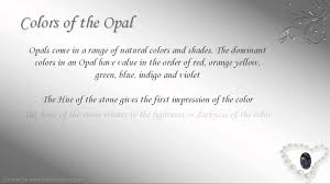 opal october october birthstone libra opal youtube