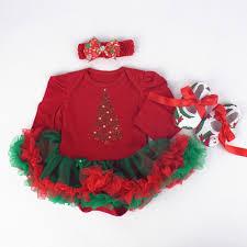 3pcs per set infant tulle romper baby girls christmas tree