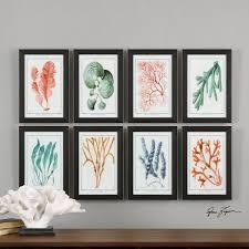 Home Interior Framed Art Colorful Algae Framed Art S 8 By Uttermost Wolf And Gardiner