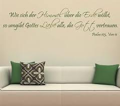 himmel spr che himmel liebe psalm gott wandtattoo 180cm flur text zitat esszimmer