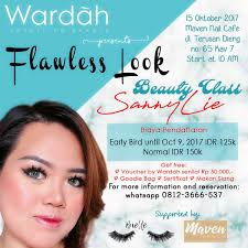 event malang on class flawless look by sanny lie