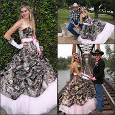 Country Western Clothing Stores 2017 Fashion Cowboy Country A Line Camo Wedding Dresses Pleats